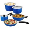 Cookaid Elite Heavy Blue Stainless Steel Cookware Set - 5 Pcs